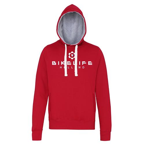 Bikelife Holland Hoodie - logo wit front