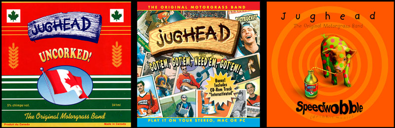 Cover art for 3 Jughead CDs.