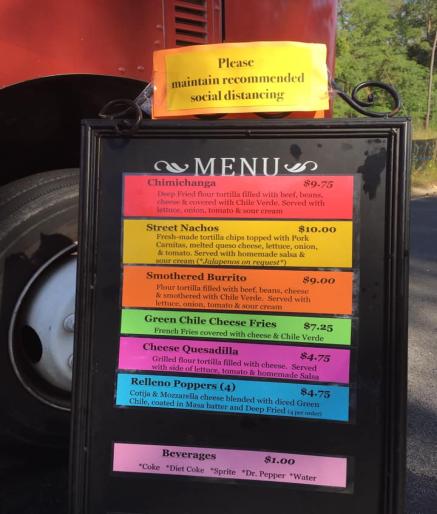 chili truck sign