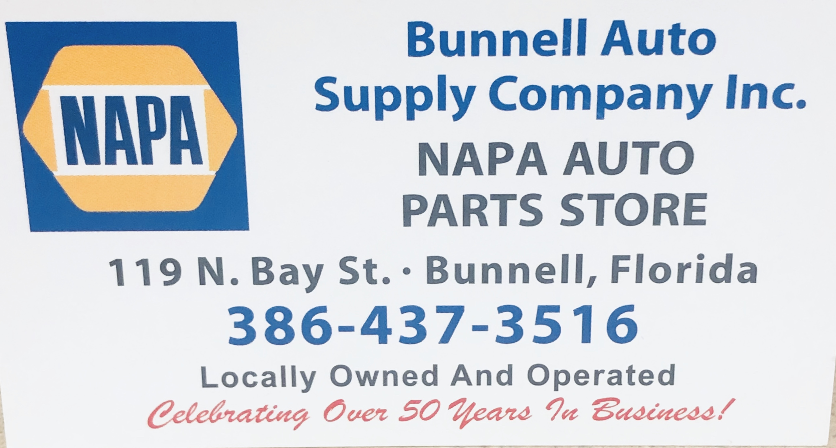 NAPA Bunnell Auto Supply Company