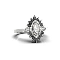 PhotoRealistic render bespoke marquise ring