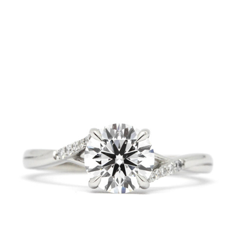 Bespoke, diamond set twist ring