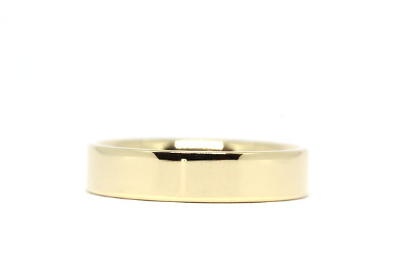 Flat Court | 5mm | 18ct Yellow Gold