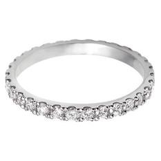 Scalloped edge Eternity ring