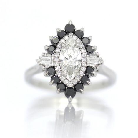 Bespoke, marquise diamond cluster ring