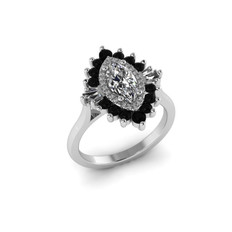 CAD marquise ring