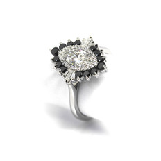 Bespoke marquise diamond ring