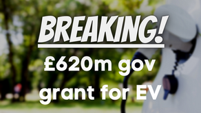£620m Gov grant for EV - as move towards a greener Britain intensifies