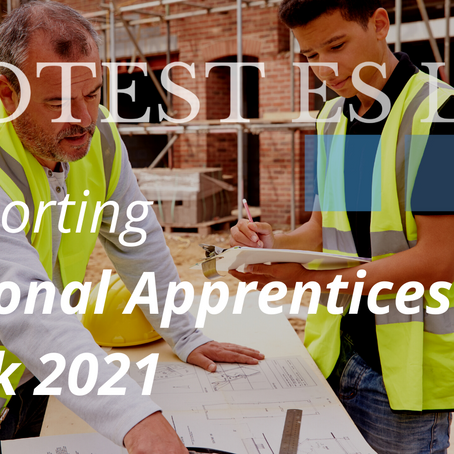 Protest Supporting National Apprenticeship Week 2021