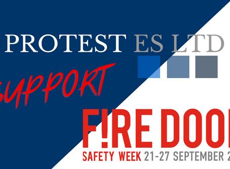 Protest ES Ltd Support Fire Door Safety Week 2020