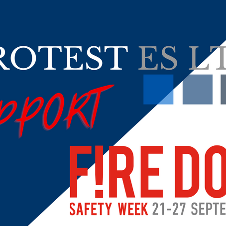 Protest ES Ltd Support Fire Door Safety Week 2020