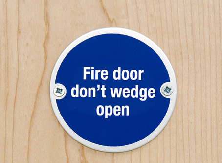 Why you must prevent fire doors from being wedged open