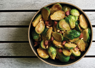 Brussels Sprouts With Pancetta &Pine nuts