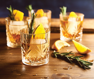 OLD FASHIONED WITH ROSEMARY & ORANGE