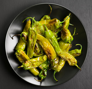 Grilled Shishito Peppers with Lime Zest