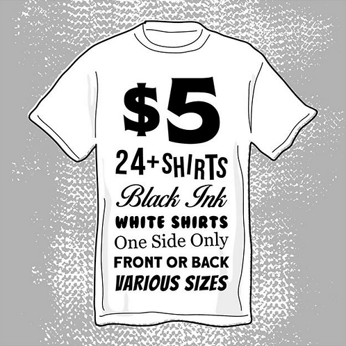 24 Shirts For $5 each