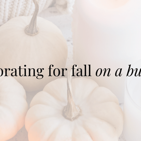 Fall Decorating on a Budget