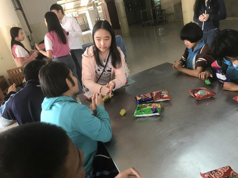 Visits At The Blind School From CMIS Interact