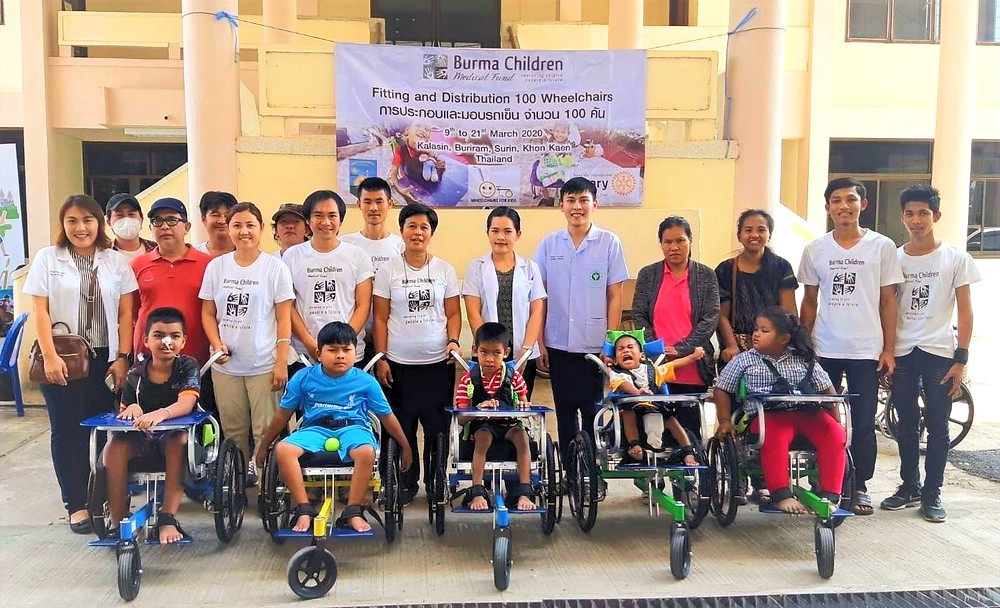 BCMF distributes 100 wheelchairs to needy children