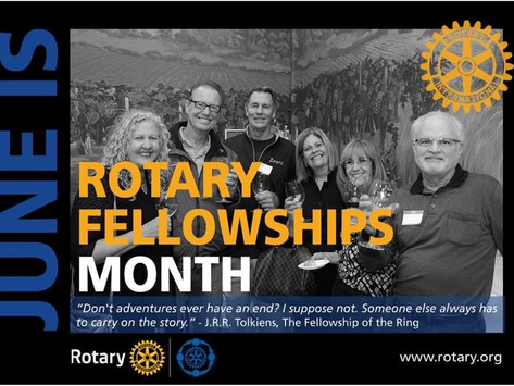 June 2021 is Rotary Fellowships Month