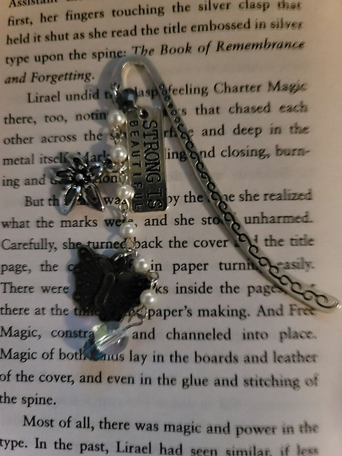 Strong is Beautiful Charm Bookmark