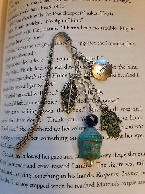 Peace Love and Namaste Charm Bookmark