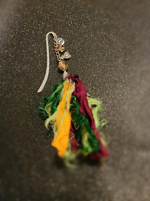 Namaste - Sari Silk Bookmark