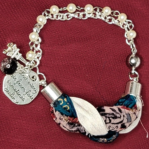 Paris Prose Sari Silk Bracelet