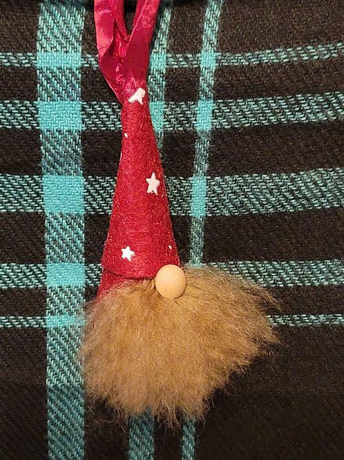 Gnome Ornament - Red Stars