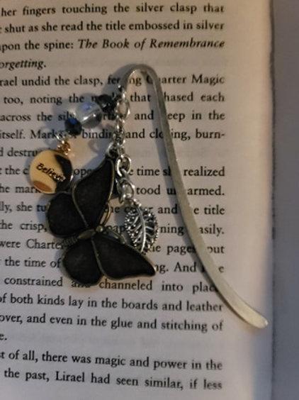 Believe in Butterflies Charm Bookmark