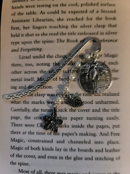 Bee Strong Charm Bookmark