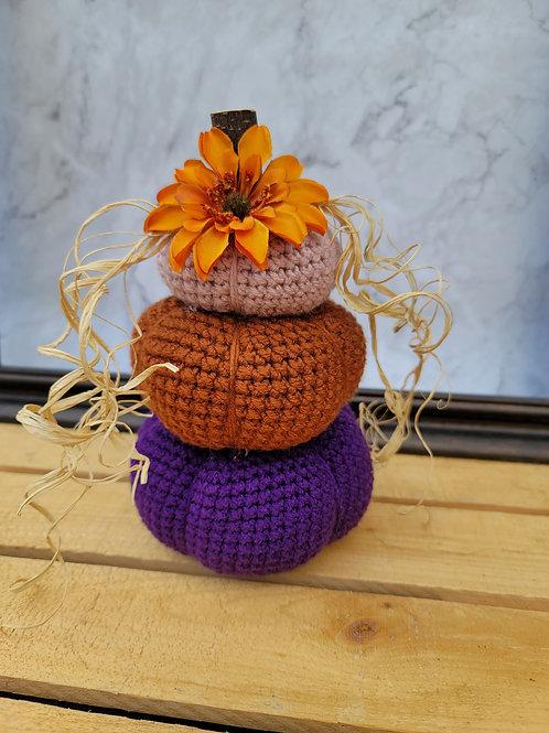 Pretty Daliah Pumpkin Stack - Fall Decor