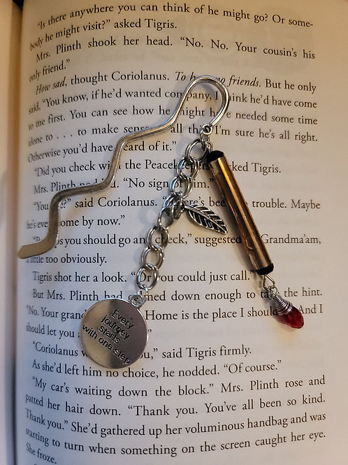 Every Journey Begins with a Step Charm Bookmark