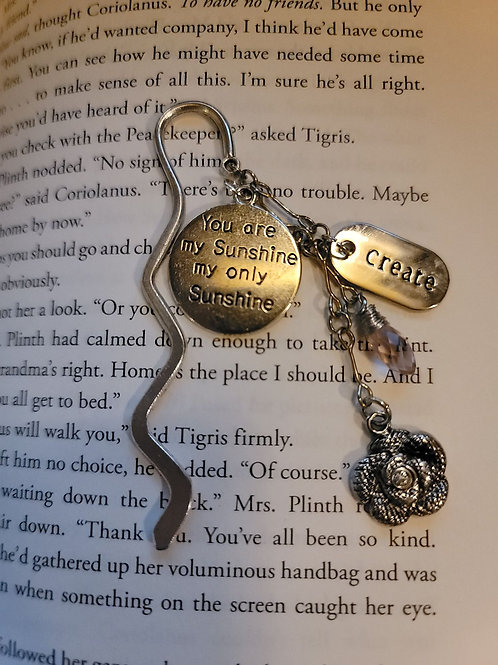 You Are My Sunshine Charm Bookmark