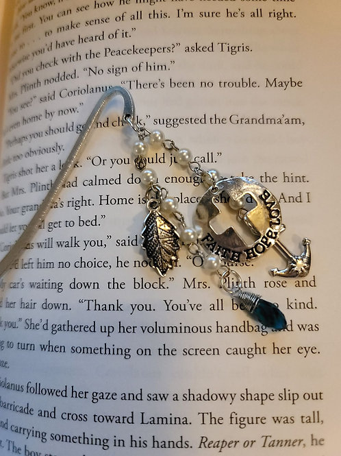 Faith - Hope - Love - Jesus is my Anchor Charm Bookmark