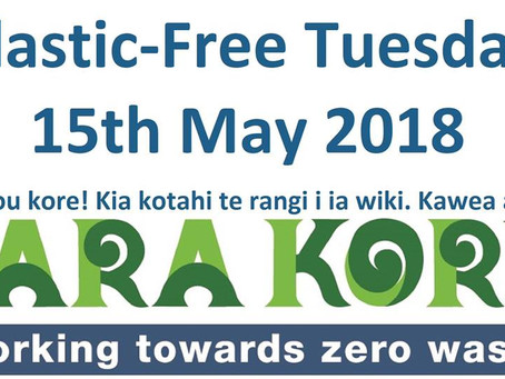 Plastic-Free Tuesdays: One day a week of no plastic consumption and no plastic waste.