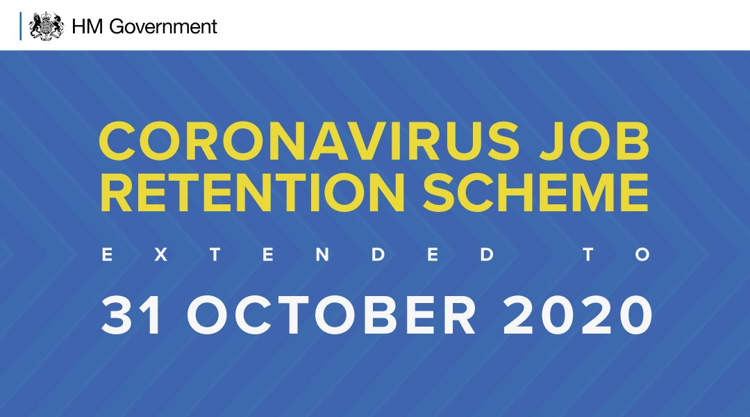 ⚠️Extension of the Job Retention Scheme⚠️  The Chancellor today has announced, that the Coronavirus