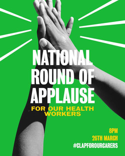 26 March  Public Join the nation at 8pm tonight to say THANK YOU to all health and social care staff