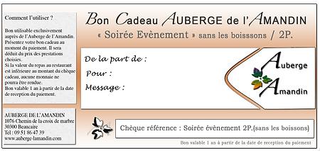 Auberge Amandin Beaucaire bon cadeau soiree evenement