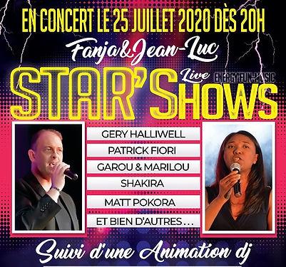 concert Star'show auberge l'amandin