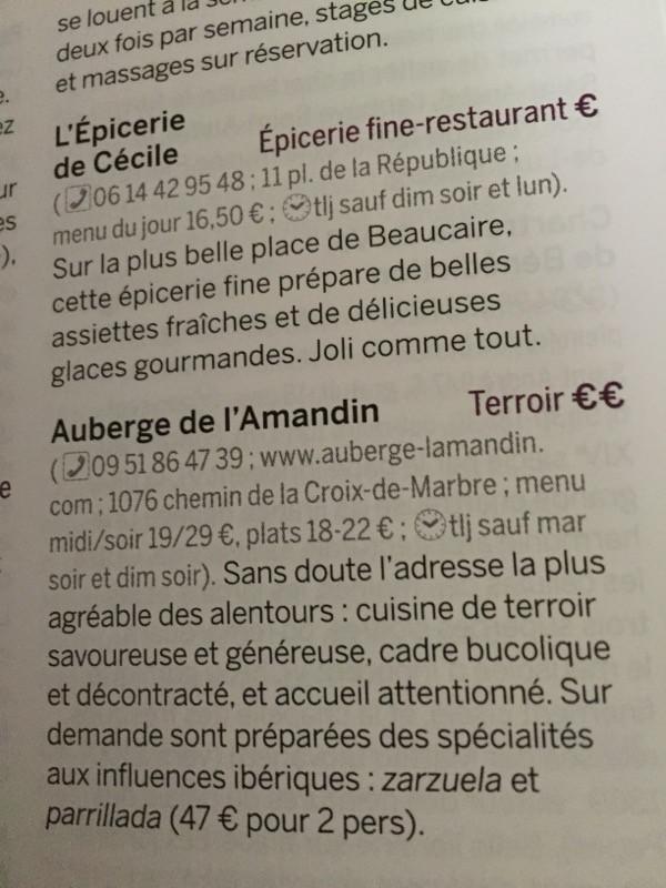 le restaurant L'Amandin