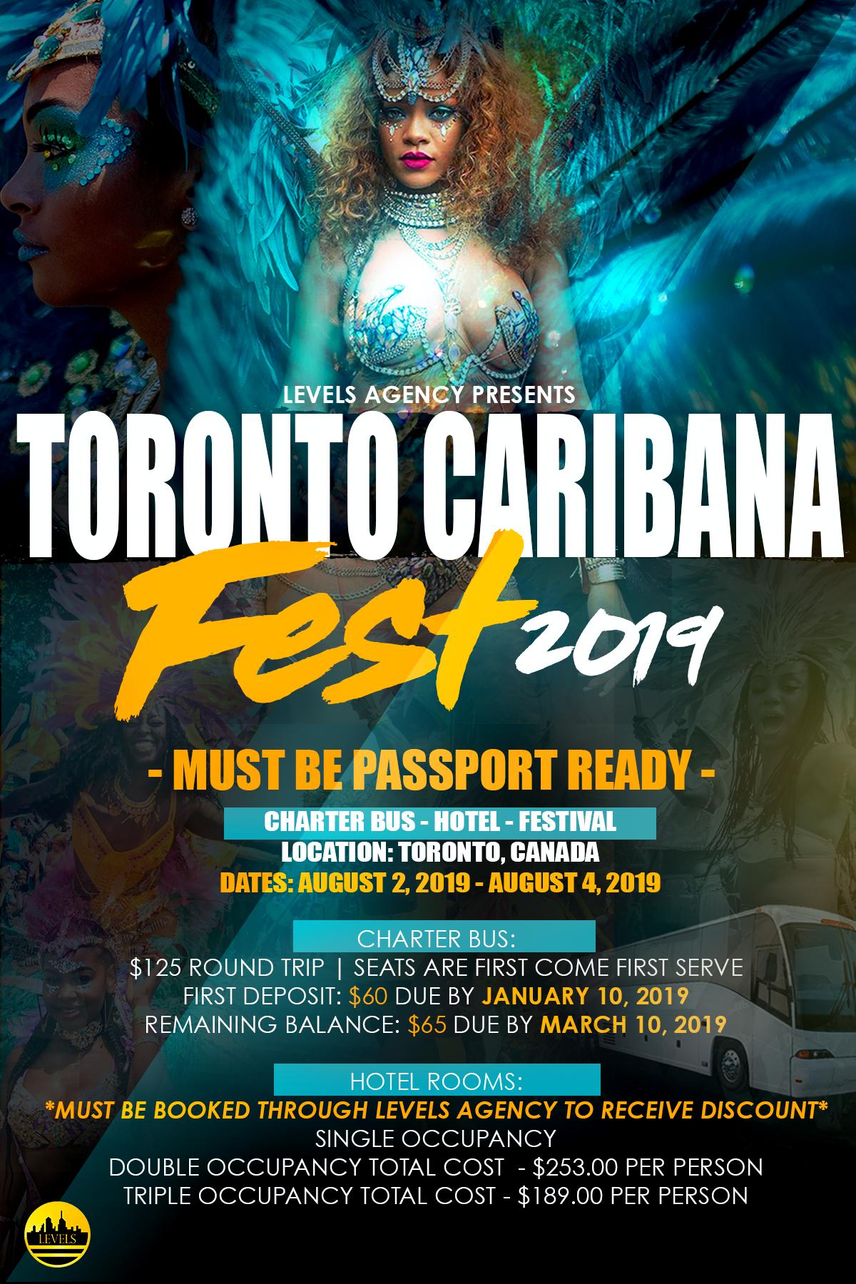 Toronto: The Caribana Festival Aug 2nd - Aug 4th, 2019
