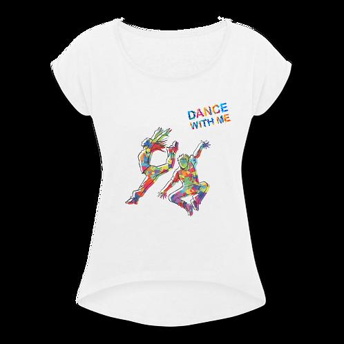 Maglietta con risvolti Donna