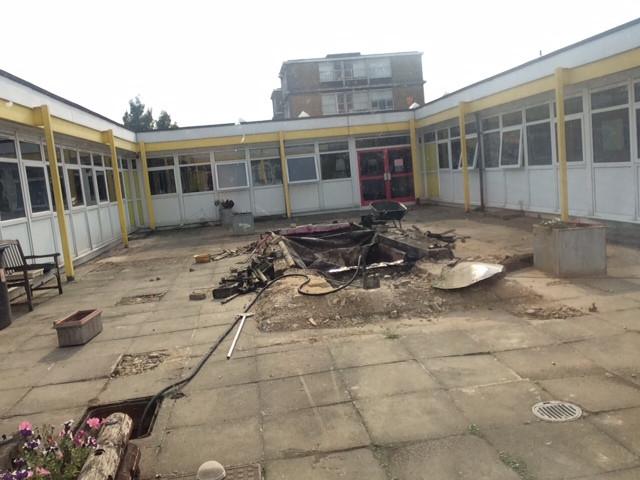 Rebuilding Inner Courtyard