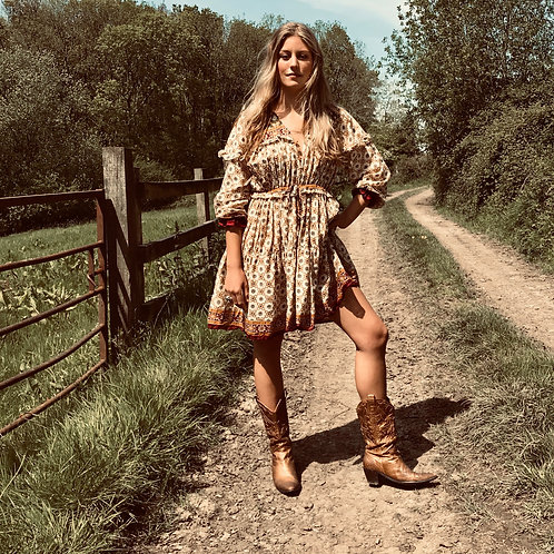 Sissy Cowgirl Dress - Tan