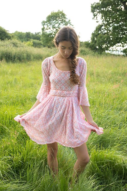 The Anastasia Dress - Pink & White