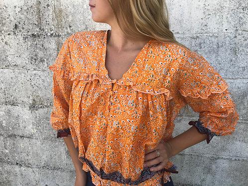 Sissy Cowgirl Shirt - Burnt Orange & Cacao