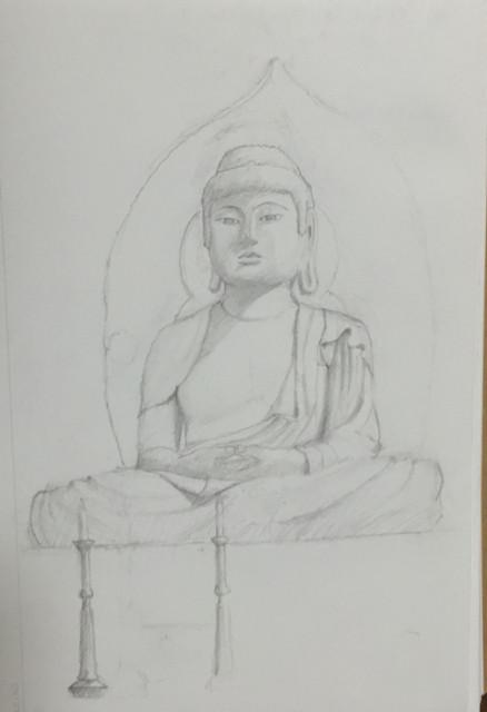 Sketch of Great Buddha