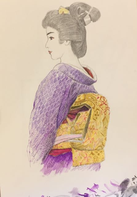 Sketch of geisha