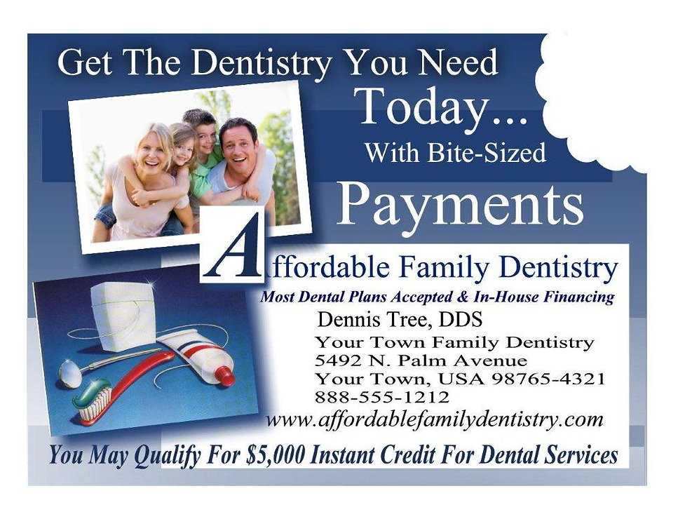 Affordable Family Dentistry Post Card.jp